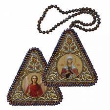 """Набор для вышивания бисером двухсторонней иконы """"Св. Мц. Татиана и Ангел Хранитель"""""""