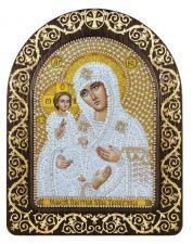 """Набор для вышивания бисером иконы в рамке-киоте """"Богородица """"Троеручица"""""""""""