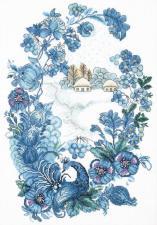"""Набор для вышивки крестиком Чарівна Мить """"Морозный узор"""". Размер - 28 х 40 см."""