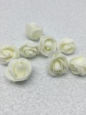 Роза из фоамирана,2 см,цвет белый (white),10 шт