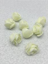 Роза из фоамирана,2 см,цвет молочный (ivory),10 шт