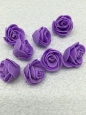 Роза из фоамирана,2 см,цвет фиолетовый (purple),10 шт