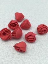 Роза из фоамирана,2 см,цвет красный (red),10 шт