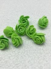 Роза из фоамирана,2 см,цвет зелёный (green),10 шт