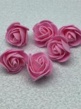 Роза из фоамирана,3 см,цвет розовый (pink),10 шт