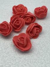 Роза из фоамирана,3 см,цвет красный (red),10 шт