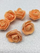 Роза из фоамирана,3 см,цвет оранжевый (orange),10 шт