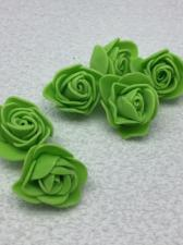 Роза из фоамирана,3 см,цвет зелёный(green),10 шт