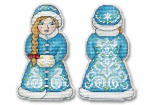 """Набор для вышивания на пластиковой канве """"Снегурочка"""". Размер - 7,5 х 12,5 см."""