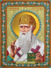 Картины бисером | Икона Святителя Спиридона Тримифунтского. Размер - 20 х 27 см.