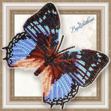 """Набор для вышивки бисером на прозрачной основе """"Бабочка """"Харакс Смарагдалис"""""""""""