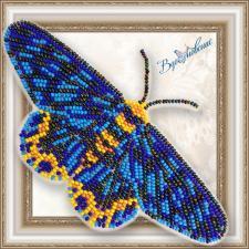 """Набор для вышивки бисером на прозрачной основе """"Бабочка """"Dysphania numana"""""""""""