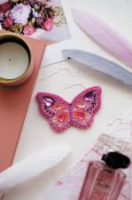 """Набор для вышивки бисером украшения на натуральном художественном холсте """"Пурпур"""""""