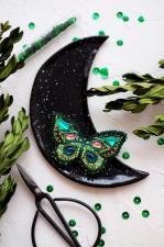 """Набор для вышивки бисером украшения на натуральном художественном холсте """"Изумрудный август"""""""