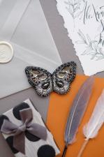 """Набор для вышивки бисером украшения на натуральном художественном холсте """"Графит"""""""