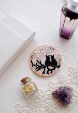 """Набор для вышивки бисером украшения на натуральном художественном холсте """"Лунное свидание"""""""