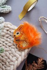 """Набор для вышивки бисером украшения на натуральном художественном холсте """"Пушистая"""""""