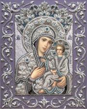 Богородица Тихвинская. Размер - 32 х 41 см.