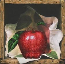 Картины бисером | Яблоко. Размер - 23 х 23 см.