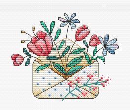 """Набор для вышивания крестиком ТМ """"Жар-Птица"""" """"Цветочный букет"""". Размер - 10 х 8 см."""