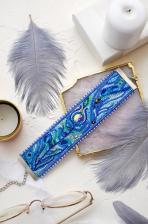 """Набор для вышивки бисером украшение-браслет на натуральном художественном холсте """"Перистое касание"""""""