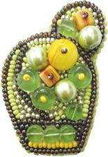 """Набор для изготовления броши Crystal Art """"Яркий кактус"""". Размер - 4 х 6 см."""