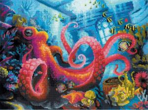 "Риолис | ""Подводное царство"". Размер - 40 х 30 см."