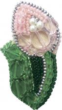 """Набор для изготовления броши Crystal Art """"Тюльпан"""". Размер - 4 х 7 см."""