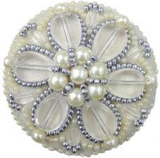 """Набор для изготовления броши Crystal Art """"Жемчужные лепестки"""". Размер - 5,5 х 5,5 см."""