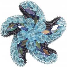 """Набор для изготовления броши Crystal Art """"Звезда морей"""". Размер - 7 х 7 см."""