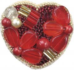 """Набор для изготовления броши Чарівна Мить """"Сердце"""". Размер - 5 х 5 см."""