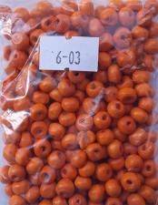 Деревянные бусины 6мм (20 г),цвет №03 (оранжевый)