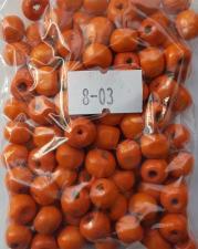 Деревянные бусины 8мм (20 г),цвет №03 (оранжевый)