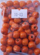 Деревянные бусины 10мм (20 г),цвет №03 (оранжевый)