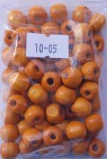 Деревянные бусины 10мм (20 г),цвет №05 (светло-оранжевый)