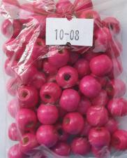 Деревянные бусины 10мм (20 г),цвет №08 (розовый)
