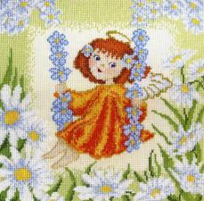 Марья Искусница | Ангелок (по рисунку А.Майской). Размер - 25 х 25 см.