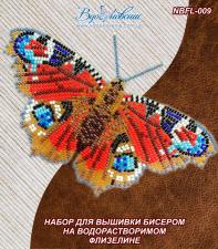 """Набор для вышивки бисером на одежде """"Бабочка """"Павлиний Глаз Дневной"""""""""""