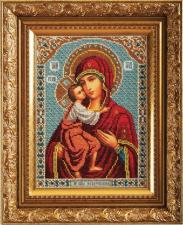 Богородица Фёдоровская. Размер - 19 х 27 см.
