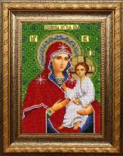 Тихвинская икона Божьей Матери. Размер - 18,5 х 25,5 см.
