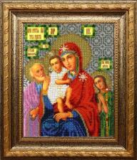 Икона Божией Матери Трёх радостей. Размер - 19 х 23 см.