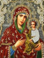 Тихвинская икона Божией Матери (трунцал). Размер - 19 х 24 см.