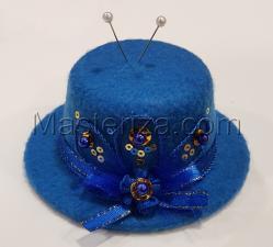"""Игольница """"Восток"""",цвет синий,размер - 10х10х4,8 см"""