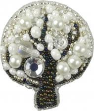 """Набор для изготовления броши Crystal Art """"Дерево"""". Размер - 4,5 х 6,5 см."""