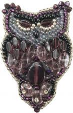 """Набор для изготовления броши Crystal Art """"Сова"""". Размер - 4 х 6,5 см."""