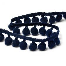 Тесьма с помпонами арт.TBY-LC-20 шир.15-20мм цв.S058 (120) (глубокий синий)