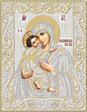 Маричка | Владимирская икона Божией Матери (серебро). Размер - 18 х 23 см.
