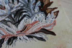 """Набор для вышивки бисером на холсте """"Рисунок сепией"""". Размер - 27 х 34 см."""