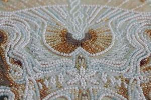 """Набор для вышивки бисером на холсте """"Белый"""". Размер - 31 х 43 см."""