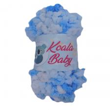 Пряжа Koala baby colors (100% полиэстер, 150 гр/13,9 м), цвет 202 (бело-голубой)
